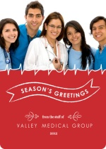 Red Doctors Office Holiday Card