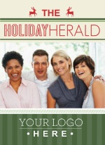 Holiday Photo Newsletter Business Holiday Card