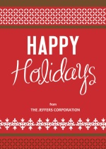 Classic Red  Business Holiday Card