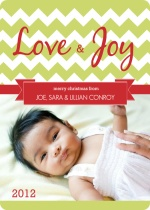 Love and Joy Christmas Photo Card