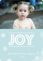Joyful Bubbles Christmas Photo Card