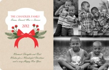 Country Floral Christmas Photo Card