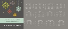Snowflake Business Holiday Calendar Card