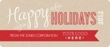 Red and Brown Company Holiday Card