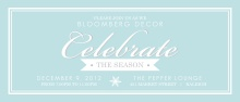 Light Blue Business Holiday Party Invitation