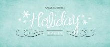 Turquoise Business Holiday Party Invitation