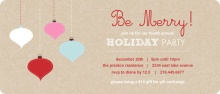 Kraft Colorful Ornament Holiday Party Invitation