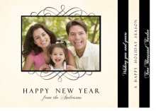 Cream and Black New Year Photo Booklet Card