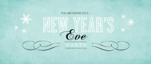 Turquoise New Years Party Invitation