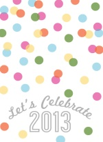 Colorful Confetti New Years Invitation