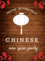 Rustic Chinese New Year Party Invite