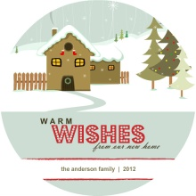Snowy House Holiday Moving Announcement
