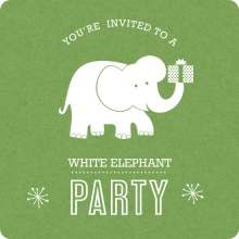 White Elephant Party Invite