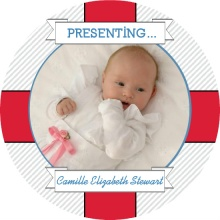 Nautical Life Preserver Birth Announcement