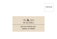 Western Love  Mailing Address Envelope
