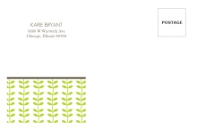 Green Spring Pattern  Full Envelope