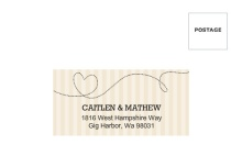 Cream and Black United States Map  Return Address Envelope