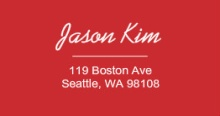 Red Outline  Address Label