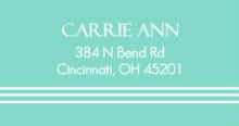Elegant Blue  Address Label