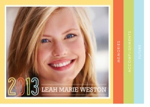 Graduation Announcement Booklet Pastel Colors