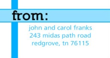 Blue Stripes Address Labels