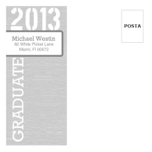 Grey Woodgrain Graduation Envelope