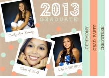 Graduation Invitation Coral Polaroid Booklet