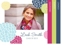 Graduation Announcement Multi Color Floral