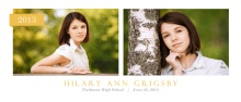 Graduation Announcement Simple Yellow Banner