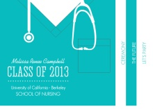 Graduation Invitation Teal Scrubs Nursing Graduation Booklet