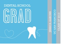 Graduation Invitation Blue and Gray Tooth Dental Booklet