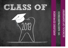 Graduation Invitation Chalkboard Tooth Dental Booklet