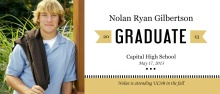 Graduation Announcement Gold Banner