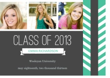 Graduation Announcement Charcoal and Teal Photo Booklet