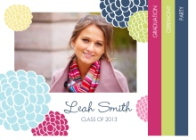 Graduation Invitation Multi Color Floral