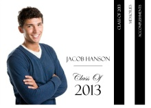 Graduation Announcement Classic Black and White Booklet