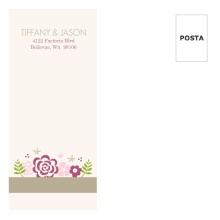 Pink Flowers  Custom Envelope