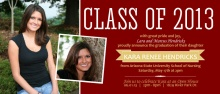 Nursing School Graduation Invitation Maroon and Gold Banner