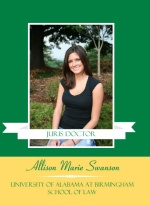 Graduation Invitation Green and Yellow Photo Banner