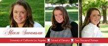 Graduation Announcement Red Photo Dental