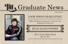 Graduation Announcement Vintage Graduate Newsletter