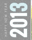 Gray And Blue Hello 2013  New Years Custom Mug