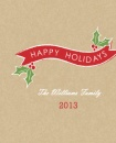 Red Banner And Mistletoe  Holiday Custom Mug