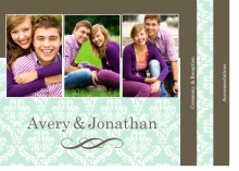 Mint and Brown Booklet Wedding Invitation