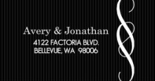Black And White Elegant Swirl  Address Label