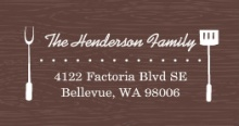 Brown Western  Address Label