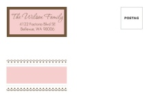 Pink Lace  Custom Envelope