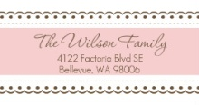 Pink Lace  Address Label
