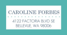 Modern Stripes Navy and Turquoise  Address Label