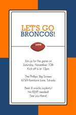 Team Colors Orange and Blue Football Party Invitation